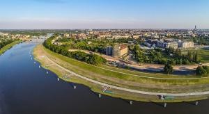 Zobacz Promenady Wrocławskie z lotu ptaka