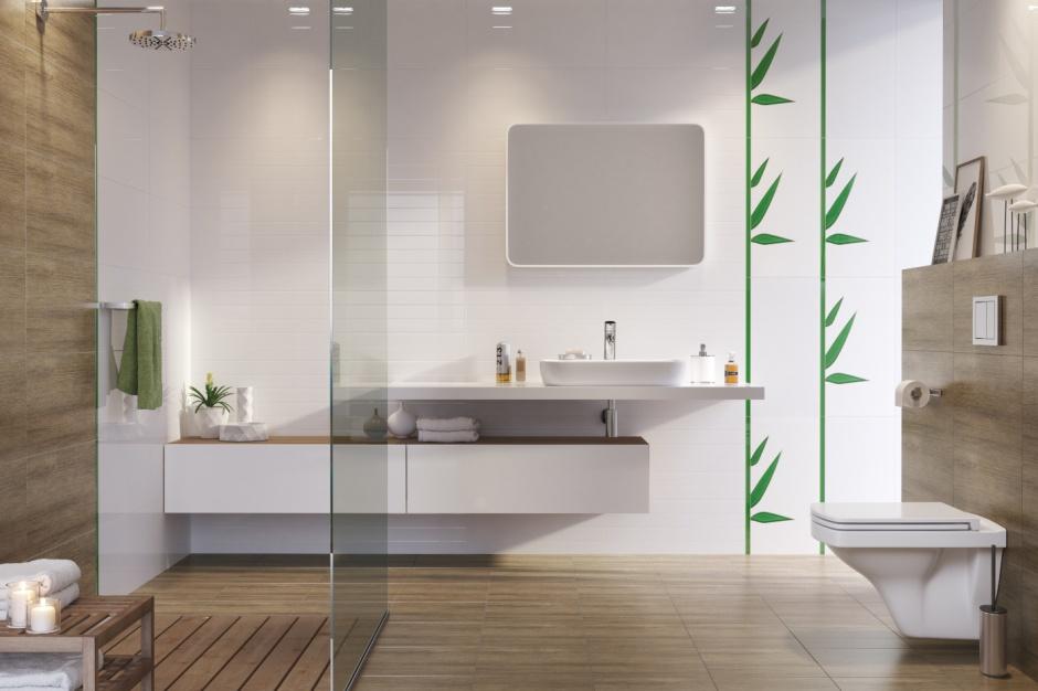 Modna łazienka w stylu eko