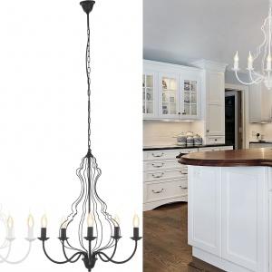 Retro lampy to modny akcent wnętrz salonu i kuchni