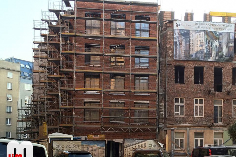 Apartamenty w zabytkowej kamienicy. Trwają prace remontowe