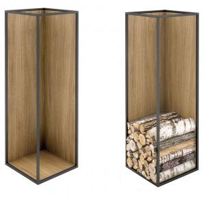 Zasobniki na drewno, które eksponują jego piękno