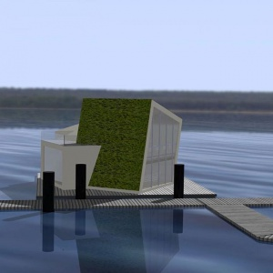 Pływający dom, który produkuje wodę, prąd i ciepło