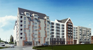Budowa drugiego etapu apartamentów na Wyspie Spichrzów w maju 2017 r.
