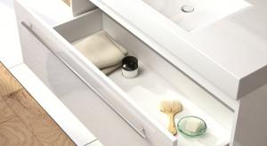 Półki i pojemniczki - sposób na bałagan w łazience