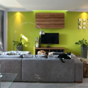 Salon w bloku od projektanta