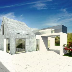 Dom ze skośnym dachem