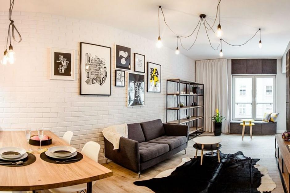 Mieszkanie z industrialnymi detalami