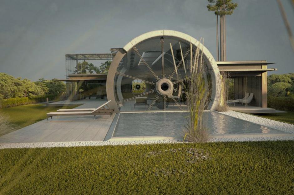 Domowa tuba z betonu godzi się z naturą