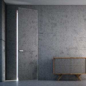 Drzwi w okładzinie z betonu