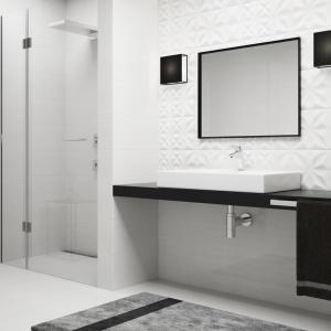 Geometria sprawdza się w łazience