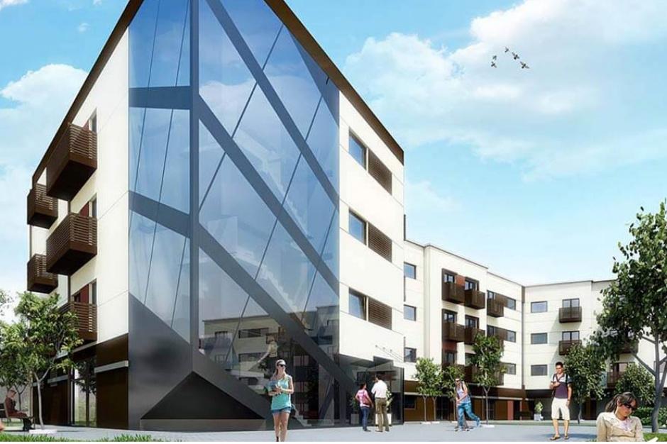 Apartamenty Przy Parku w Wieliczce zaskoczą fasadą