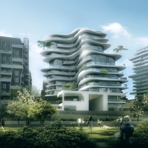UNIC: Apartamentowiec okręcony tarasami