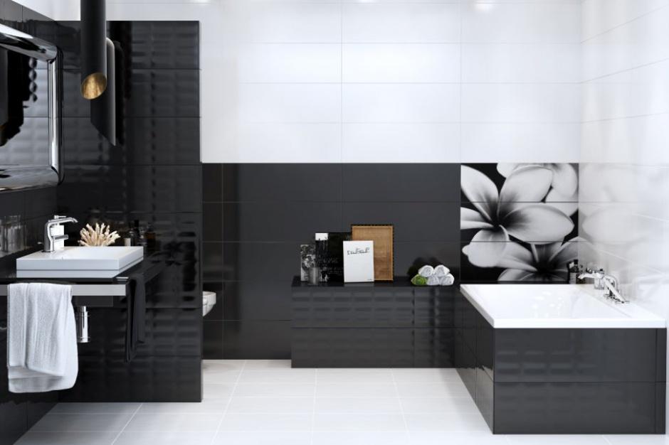 Ceramiczne obrazy w łazience