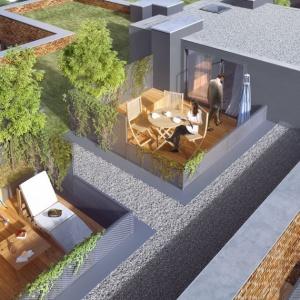 Jakuba Wujka. Mieszkania z zielonymi tarasami na dachu