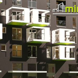 W MintCity mieszkania mają altany kubikowe