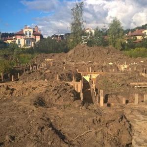 Na budowie Osiedla Muminków ruch jak w mrowisku