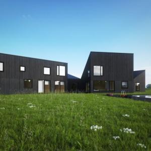 Dom w Szczerym Polu ma styl wiejskiego gospodarstwa