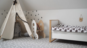 Kolorowe wnętrza w pokojach dziecięcych
