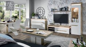 Modny salon: białe meble z połyskiem czy matowe?