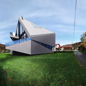 Bias House: dom zainspirowany górskim pejzażem