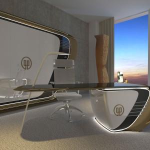 Futurystyczny apartament w Złotej 44