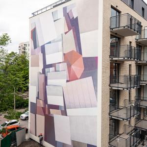 Mural na Stalowej 39 w Warszawie już skończony