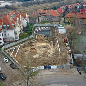 Odkrycia archeologiczne na na placu budowy w Ostrowie Tumskim w Poznaniu