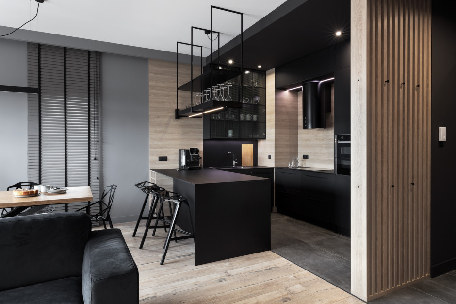 Pencil black - nowoczesny apartament w wielkomiejskim stylu