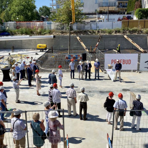 Wmurowanie kamienia węgielnego pod budowę II etapu Osiedla Ligia