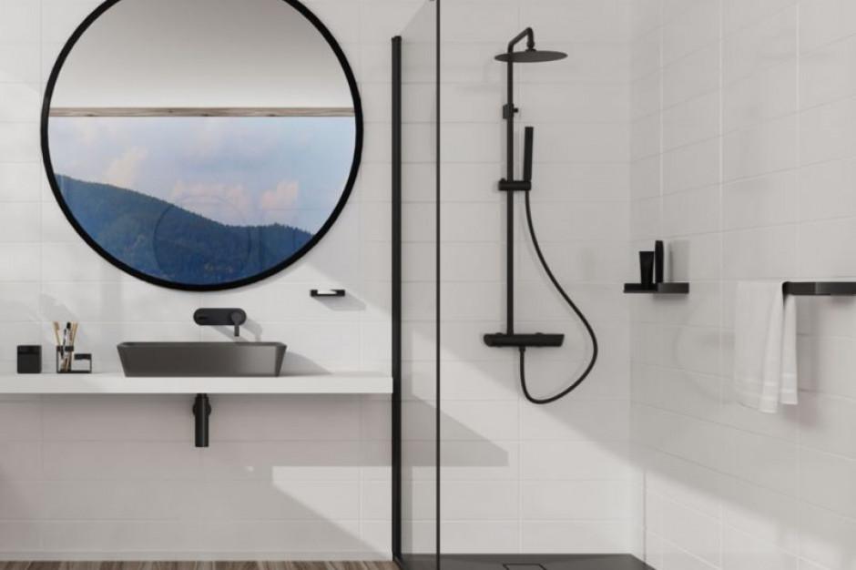 Kolor w łazience - moda na antracyt