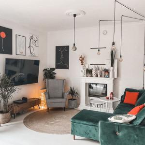 140-metrowy dom blogerki urządzony polskim designem