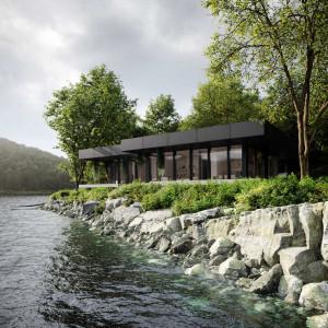 Zobacz urokliwe siedlisko nad brzegiem jeziora