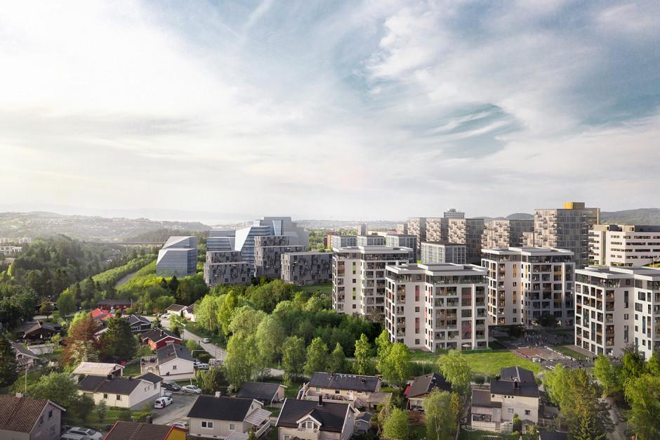 Osiedle Heimdalsporten w Norwegii od Unihouse na półmetku