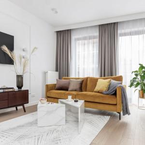 Nowoczesne mieszkanie z pastelowym akcentem