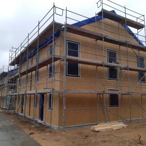 Rośnie osiedle domów, których budowa trwa trzy dni