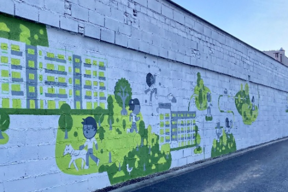 Budimex z czyszczącym powietrze muralem w Poznaniu
