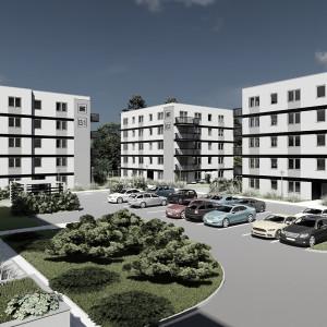 Realizacja zielonego osiedla Ziębicka 14 w Poznaniu na półmetku
