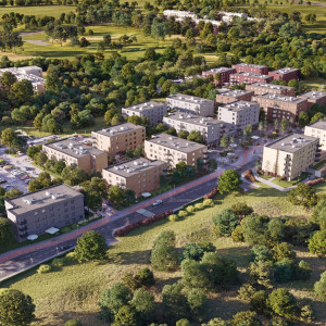 Katowice z nowym osiedlem z pracowni Kuryłowicz & Associates