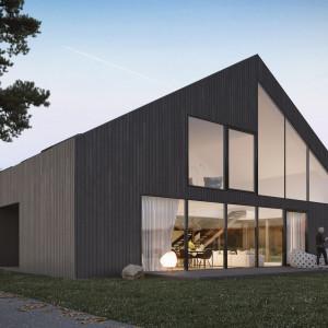 Tradycyjny dom z naturalnych materiałów spod kreski pracowni Mobius