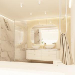Beże, szarości i złoto - tak urządzono 250 metrowy dom w Rzeszowie