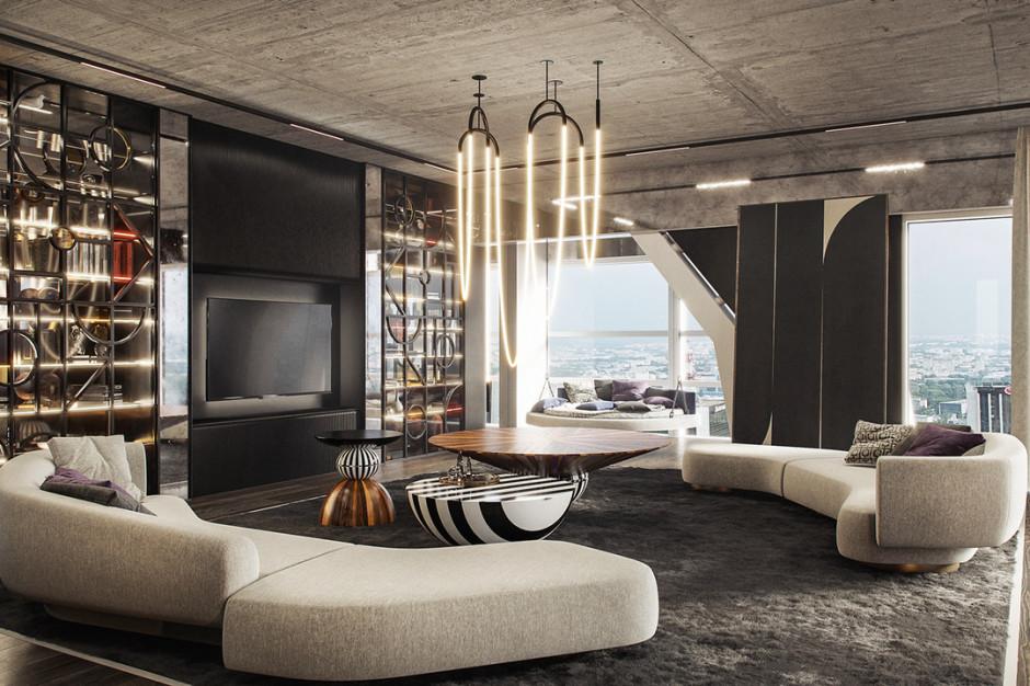 Złota 44. Luksusowy apartament z widokiem spod kreski Tissu Architecture