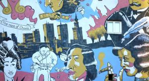 Antysmogowy mural na budynku w centrum Rzeszowa