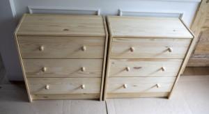 DIY: łatwa metamorfoza sosnowej szafki